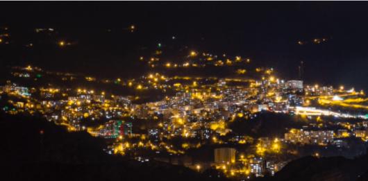 Artvin gece manzarası